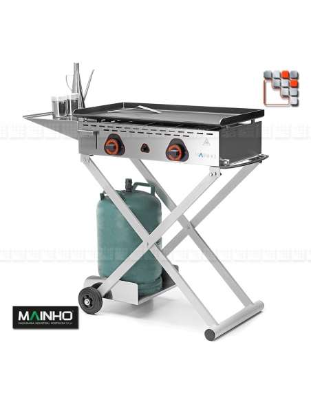 Stainless Steel Cart X for Plancha ECO M04-X MAINHO® Wood & stainless steel Outdoor Trolley