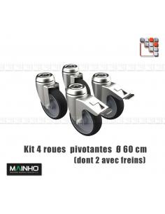 Kit 4 Roues Autoblocante Charge Lourde MAINHO M36-RM/RMF MAINHO SAV - Accessoires Pièces détachées MAINHO