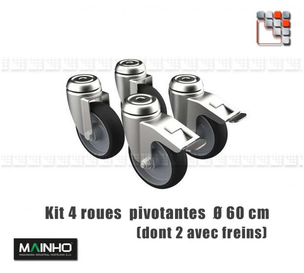 MAINHO Heavy Load Self-locking 4 Wheels Kit M36-RM/RMF MAINHO SAV - Accessoires MAINHO Spares Parts Gas