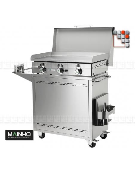 Plancha NC-80N Novo-Crom Gaz MAINHO M04-NC80N MAINHO® Plancha Premium NOVOCROM NOVOSNACK