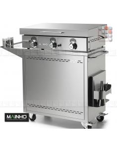 Trolley Plancha NC-80TB Mainho M04-CNE80NC80TB A la Plancha® Plancha MAINHO NOVO CROM SNACK