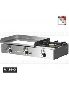 Plancha NCF-60 Novo-Crom Gas Mainho M04-NCF60N MAINHO® Plancha MAINHO NOVO CROM SNACK