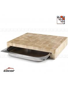 Planche à Découper Hêtre GN 2/3 LACOR D19-60592 LACOR® Ustensiles de Cuisine