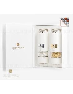 Set Moulins électriques Or & Argent Alimentaire GoldEmotion G03-ORM GoldEmotion Idées Cadeaux