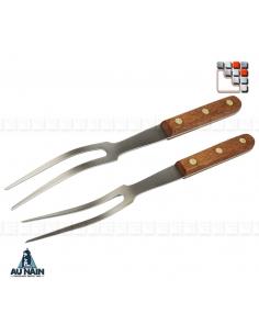 Fourchette 2Dents Courbe 28CM Palissandre AU NAIN A38-1320501 AU NAIN® Coutellerie Couteaux & Découpe