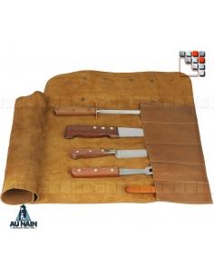 Trousse Cuir 5 Couteaux AU NAIN A38-1771312 AU NAIN® Coutellerie Couteaux & Découpe
