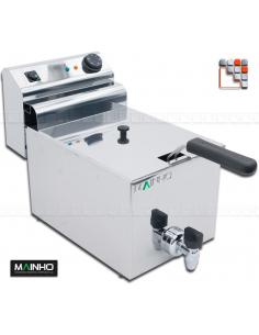 Friteuse FRET-10+10V 400V MAINHO M04-FRET10V MAINHO® Friteuse Wok Four Vapeur