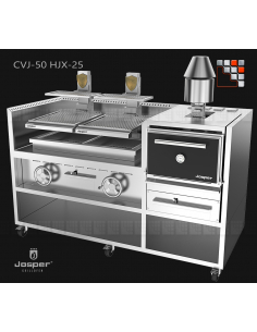 Combo 25 Oven + grill basque HJX25M Josper J48-CVJ-050-2-HJX-25 JOSPER Grill Charcoal Oven & Rotisserie JOSPER