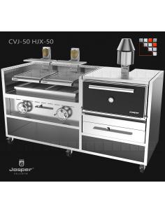 Combo CVJ-050-2-HJX-50 JOSPER J48-CVJ-050-2-HJX-45 JOSPER Grill Charcoal Oven & Rotisserie JOSPER