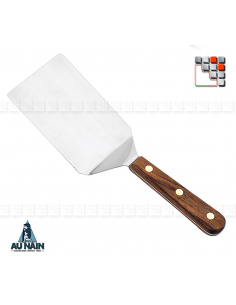 Soft Angled Spatula Rosewood 16 AUNAIN A38-1360301 AU NAIN® Coutellerie Special Plancha Ustensils