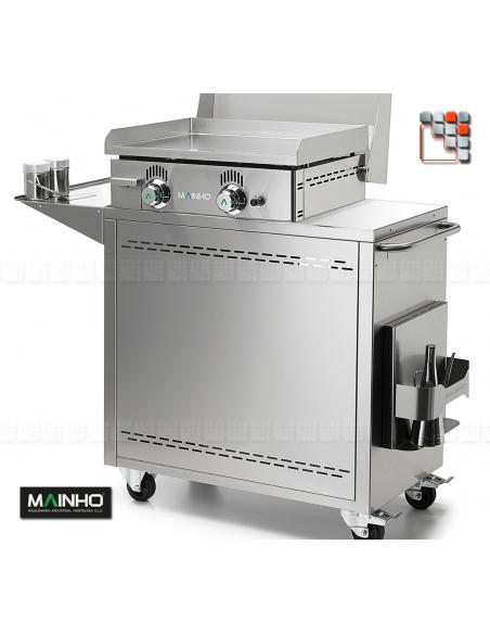 Pack Plancha NC-60NTB MAINHO M04-CNE80NC60TB A la Plancha® Plancha Premium NOVOCROM NOVOSNACK