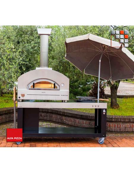 Four Stone Oven 90 Inox Alfa Forni A32-FXSTNM-GRAM ALFA FORNI® Mobil Oven ALFA FORNI