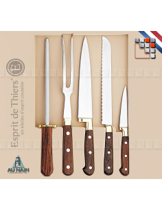 Box of 5 pieces Prince Gastronome Rosewood AUNAIN A38-1808001 AU NAIN® Coutellerie cutting