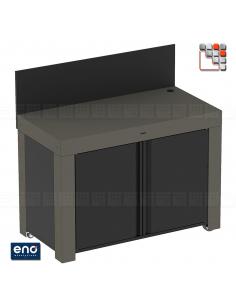 FELIX Gray Metal Mobile Cabinet ENO E07-PMAP12070 ENO®  Plancha and cart Eno