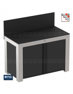 FELIX Mobile Cabinet Black Stainless Steel ENO E07-PMIP12085 ENO®  Plancha and cart Eno