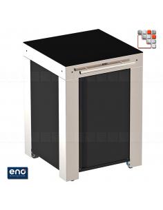 Trolley Modulo FELIX Black Stainless Steel ENO E07-PMIP06085 ENO®  Plancha and cart Eno