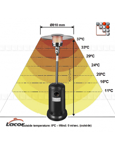copy of LACOR Gas Stainless Steel Terrace Heating L10-69401 LACOR® Outdoor Patio Heater