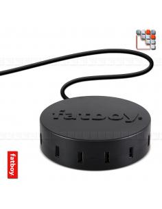 Supercharger 2.0 Chargeur USB Noir Fatboy® F49-190680 FATBOY THE ORIGINAL® Eclairage de Terrasses & Jardins