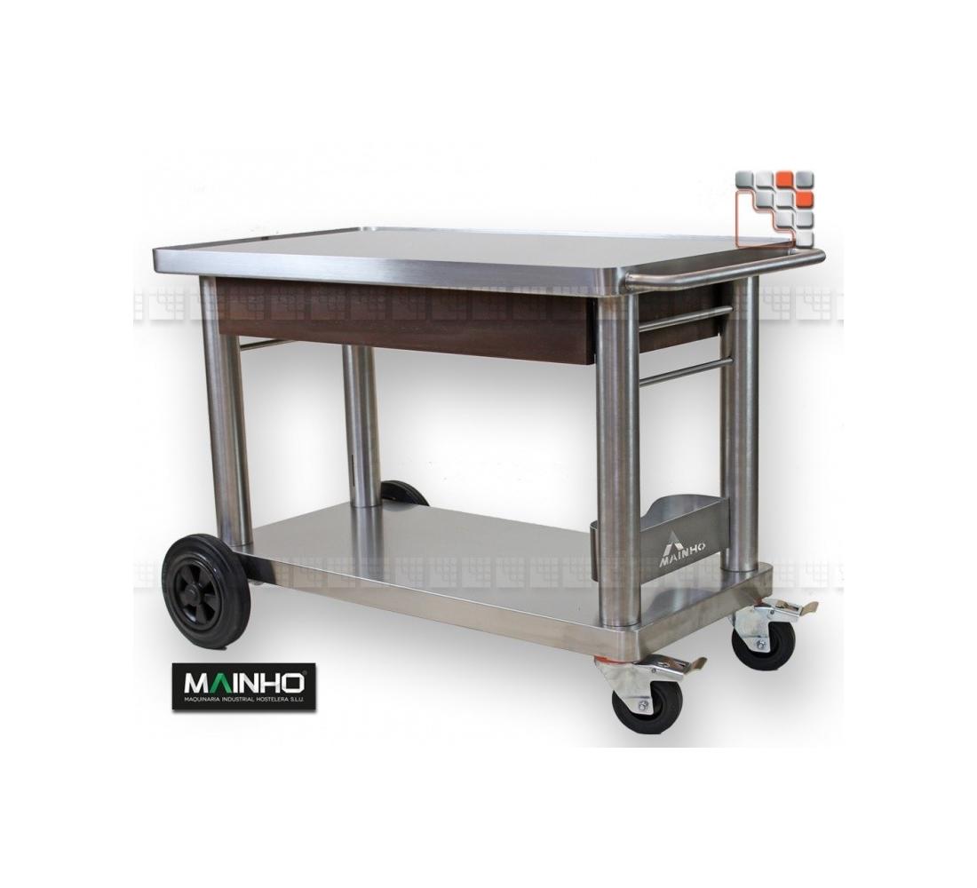 Chariot plancha inox ch 90 et ch 120 mainho for Table pour plancha inox
