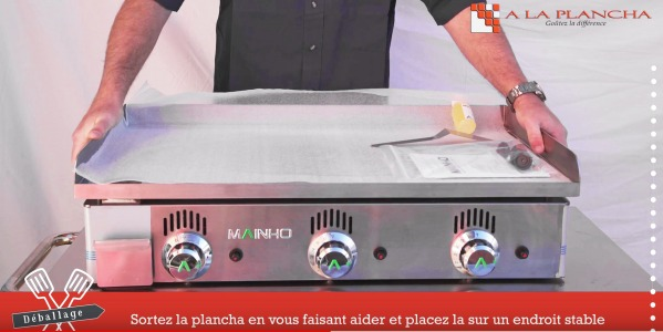 Tutorial n° 1 : Reception, commissioning of your plancha.