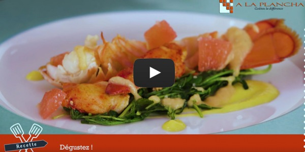 Freshness of Lobster on Rucola - Recipe-Chef Pablo